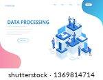 isometric expert team for data... | Shutterstock .eps vector #1369814714