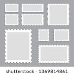 blank postage stamps template... | Shutterstock .eps vector #1369814861