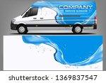 van wrap design. wrap  sticker... | Shutterstock .eps vector #1369837547