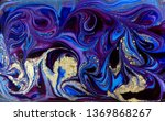 blue marbling pattern. golden... | Shutterstock . vector #1369868267