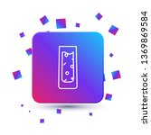trendy square with particles... | Shutterstock .eps vector #1369869584