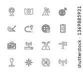 satelite navigation  gps...   Shutterstock .eps vector #1369885931