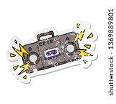 distressed sticker of a retro... | Shutterstock . vector #1369889801