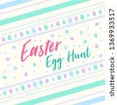 easter poster background | Shutterstock .eps vector #1369933517