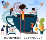 coffee production industry... | Shutterstock .eps vector #1369957727