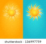 summer natural card set with... | Shutterstock .eps vector #136997759