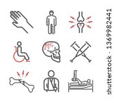 bone fractures line icons.... | Shutterstock .eps vector #1369982441