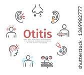 otitis banner. symptoms ... | Shutterstock .eps vector #1369982777