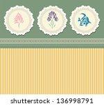 vintage images  for greeting... | Shutterstock .eps vector #136998791