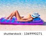 young beautiful women wearing...   Shutterstock . vector #1369990271