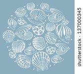 seashell round design element | Shutterstock .eps vector #137000345