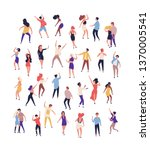 collection of tiny people... | Shutterstock .eps vector #1370005541