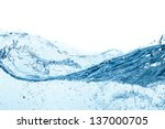 Blue Water Wave Abstract...