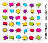 big set hand drawn colored... | Shutterstock .eps vector #1370008997