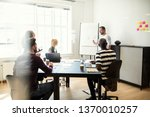 manager giving a creative... | Shutterstock . vector #1370010257
