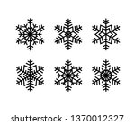 snow flakes collection. simple... | Shutterstock .eps vector #1370012327