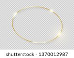 gold shiny glowing vintage... | Shutterstock .eps vector #1370012987