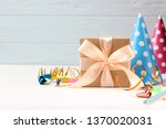 birthday background on color... | Shutterstock . vector #1370020031