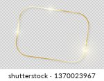 gold shiny glowing vintage... | Shutterstock .eps vector #1370023967