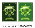earth day information brochure... | Shutterstock .eps vector #1370040071