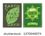 set of happy earth day poster... | Shutterstock .eps vector #1370040074