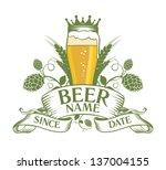 beer symbol design. | Shutterstock .eps vector #137004155
