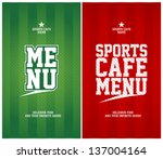 sports cafe menu cards design... | Shutterstock .eps vector #137004164