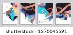 template brochures  flyers ...   Shutterstock .eps vector #1370045591