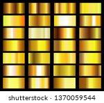 collection of golden metallic... | Shutterstock .eps vector #1370059544