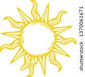 sunshine  sun vector  summer | Shutterstock .eps vector #1370061671