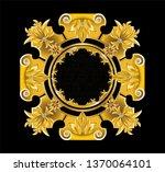 golden frame with vintage... | Shutterstock .eps vector #1370064101