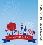 happy independence day of... | Shutterstock .eps vector #137007059