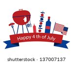 happy independence day of... | Shutterstock .eps vector #137007137