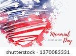 usa memorial day background.... | Shutterstock .eps vector #1370083331