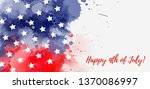 usa happy 4th of july... | Shutterstock .eps vector #1370086997