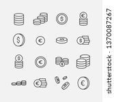coin related vector icon set.... | Shutterstock .eps vector #1370087267