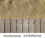 Teak Dock And Beach Sand  Edge...