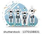 vector illustration of robot... | Shutterstock .eps vector #1370108831