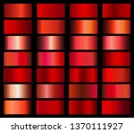 vector collection of red... | Shutterstock .eps vector #1370111927