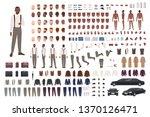 elegant african american guy... | Shutterstock .eps vector #1370126471