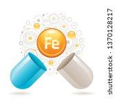 mineral vitamin iron supplement ... | Shutterstock .eps vector #1370128217