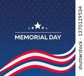 usa memorial day  postcard ... | Shutterstock .eps vector #1370129534