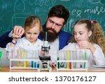man bearded teacher work with...   Shutterstock . vector #1370176127
