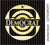 democrat shiny badge | Shutterstock .eps vector #1370189297