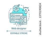 web designer concept icon. web...