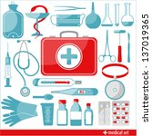 medical icons. | Shutterstock .eps vector #137019365