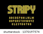 striped font design  alphabet... | Shutterstock .eps vector #1370197574
