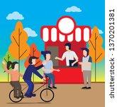 the lifestyle illustration... | Shutterstock .eps vector #1370201381