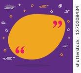 abstract concept empty speech... | Shutterstock . vector #1370208434