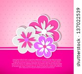 Pink Card With Three Flowers....